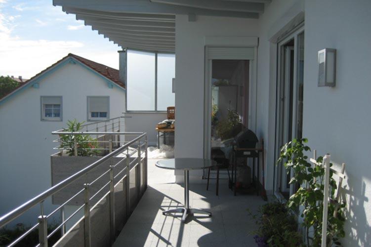 Marmor auf dem Balkon