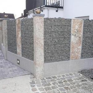 Gabion-Mauer